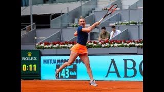 Simona Halep vs Viktoria Kuzmova Highlights 6:0 6:0 perfect Halep Mutua Madrid Open WTA 2019