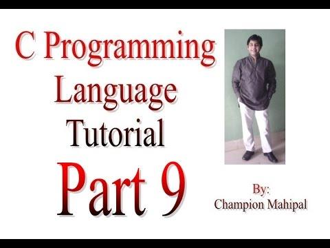 C Programming Language Tutorial Part 9