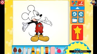 Mickey Mouse Color And Play Clup House Paint 3D Color Disney Junior Animated Coloring Book
