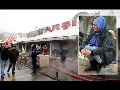 Küle Dönmüş Dükkanları Görünce Gözyaşlarına Boğuldular
