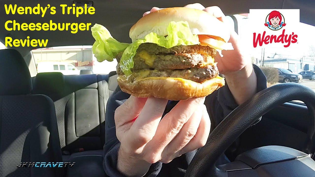 Wendy's Single Burger Nutrition. McDonald's Triple Cheeseburger