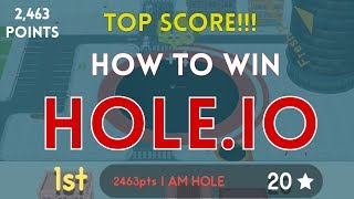 How to win HOLE.io | 2,400+ point strategy | Win first place every time