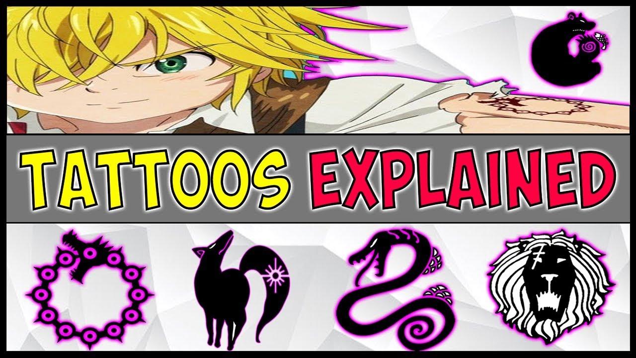 The Seven Deadly Sins Tattoos Sins Explained Nanatsu No Taizai