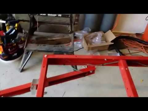 Harbor Freight Folding Trailer Build Part 2 - Wheels and Wiring