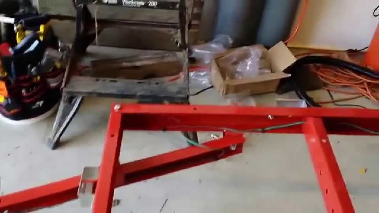 hight resolution of harbor freight folding trailer build part 2 wheels and wiring youtube