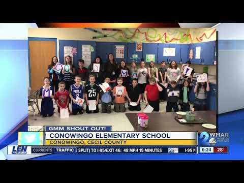 Good morning from Conowingo Elementary School!