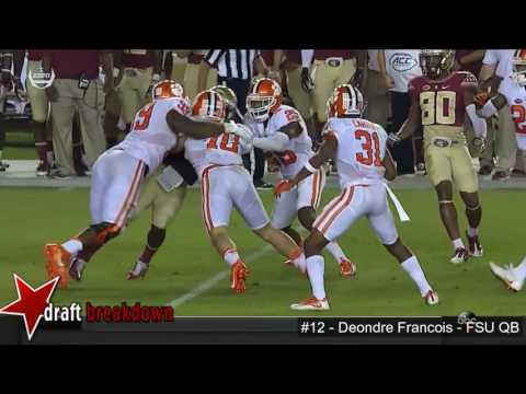 Deondre Francois (Florida State QB) vs Clemson 2016