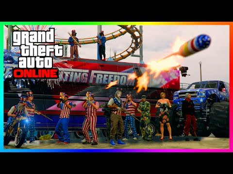 GTA ONLINE HAPPY 4TH OF JULY INDEPENDENCE DAY 2017 SPECIAL - RARE VEHICLES, FIREWORK SHOWS & MORE!