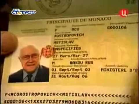 passport collector - Rostropovich Monaco passport