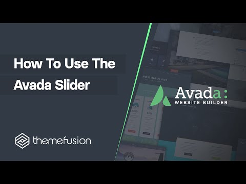 How To Use The Avada Slider Video