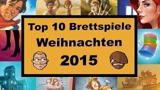 Top 10 Brettspiele für Weihnachten 2015 - Geschenktipps