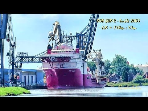 BOA SUB C 9HUC8 IMO 9275153 multi purpose offshore vessel Emden Germany