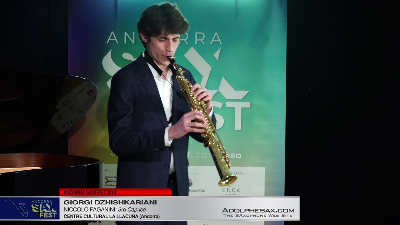 Andorra SaxFest 2019 1st Round   Giorgi Dzhishkariani   3rd Caprice by Niccolo Paganini