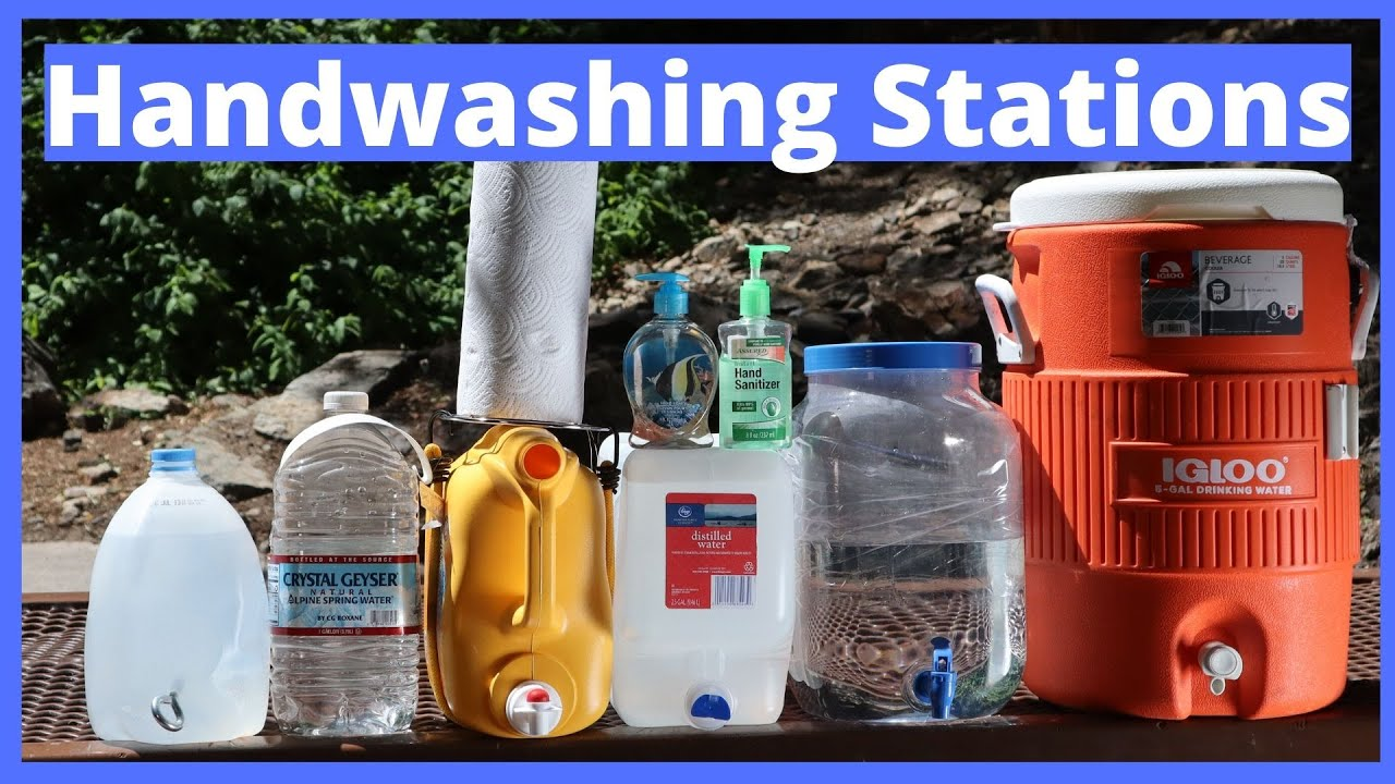 Handwashing Stations - 6 inexpensive ways to wash your hands outdoors