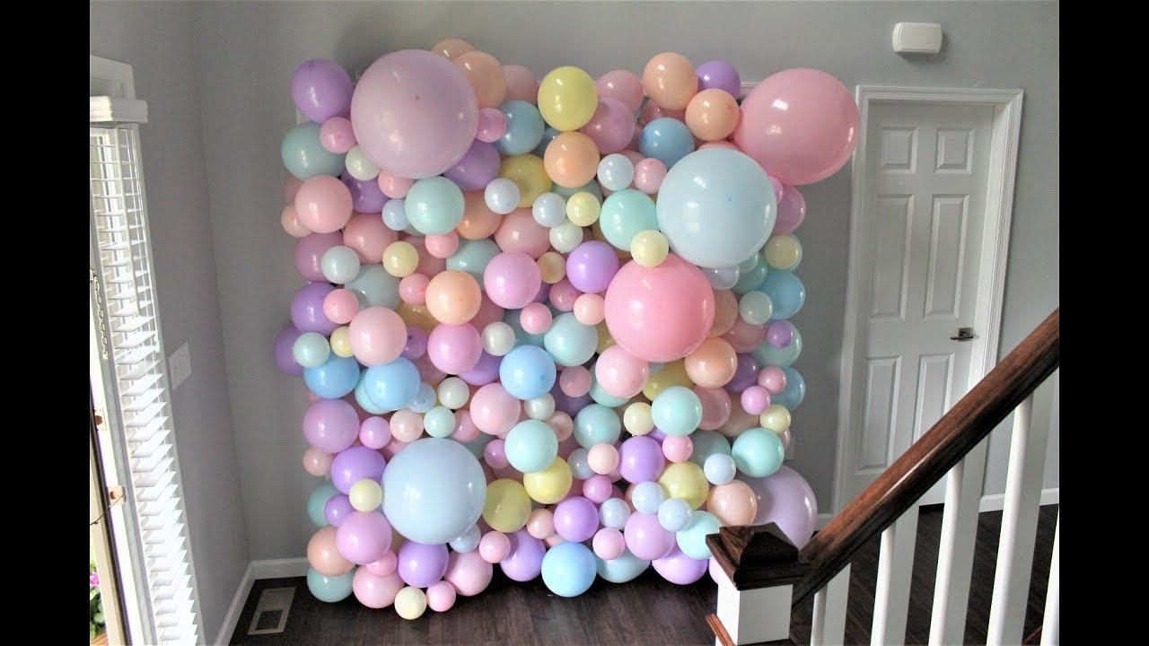 Balloon Wall Diy How To Tutorial Youtube