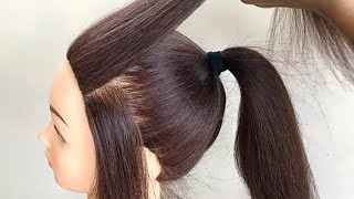 Easy High Ponytail Hairstyle For Festival or Party || New Ponytail Hairstyles For Girls
