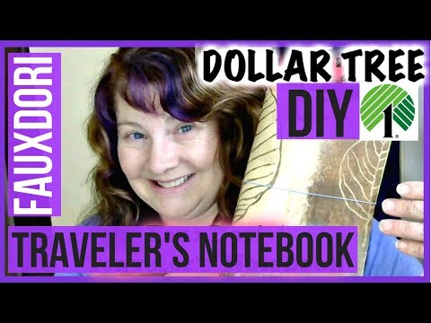 Dollar Tree DIY Fauxdori Travelers Notebook Planner