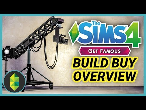 The Sims 4 Get Famous - Build Buy Overview