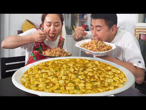【超小厨】5斤龙虾2种吃法!夫妻爆笑拍抖音,龙虾炒饭+虾黄烧豆腐,奢侈!