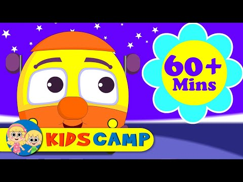 Wheels On The Bus Go Round And Round | Nursery Rhymes | 60 Minutes Compilation from Kidscamp