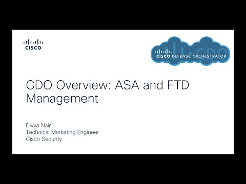 Manage ASA and FTD together with Cisco Defense Orchestrator
