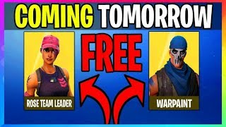 *NEW* Get *FREE* ROSE TEAM LEADER + WARPAINT (Fortnite Battle Royale Leaks) Coming Tomorrow