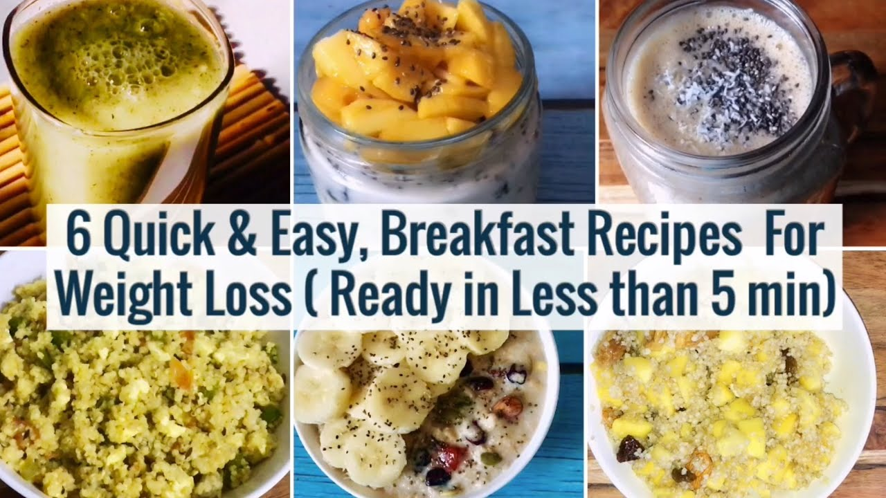 <div>6 Quick & Easy Breakfast Recipes | Meal Planning | For Weight Loss | 2 Min Healthy Veg Breakfast</div>