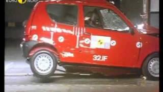 Краш тест Fiat Seicento 2000 (E-NCAP)