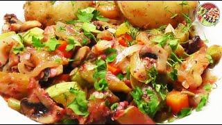 Овощное рагу с молодым картофелем. Просто, вкусно, недорого.