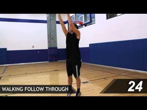 Basketball Shooting Drills: Walking Follow Through