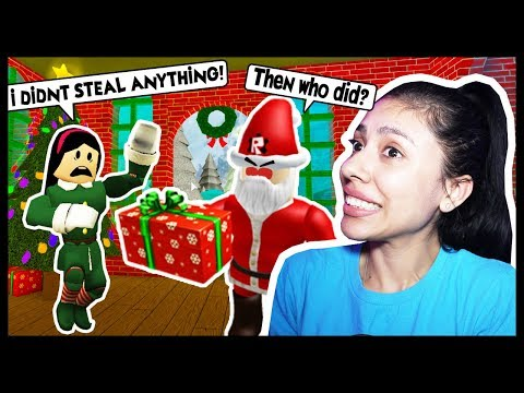 I CAUGHT AN ELF STEALING GIFTS FROM SANTA'S WORKSHOP! - Roblox - Santa's Workshop