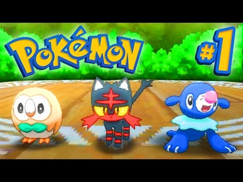 Pokemon SUN and MOON - Walkthrough Part #1 - LIVE w/ Ali-A!