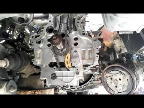 ГТ Установочные метки ГРМ, двигателя QR 20 от NISSAN.