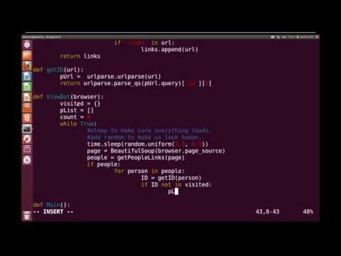 Hacking With Python #10 - LinkedIn View Bot