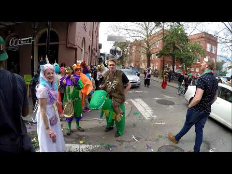 Mardi Gras Day 2018 in the French Quarter New Orleans Louisiana