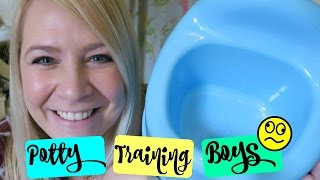 POTTY TRAINING TIPS FOR BOYS!