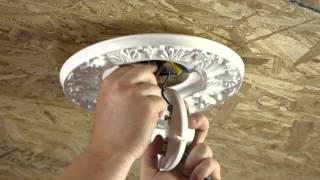 How to Hide Gaps Around a Ceiling Light Box : Ceiling Fans & Light Fixtures