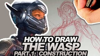 HOW TO DRAW THE WASP!  Part 1 of 2 - Construction