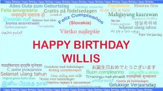 Willis   Languages Idiomas - Happy Birthday