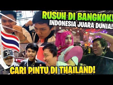 PART 2! VLOG KESERUAN YUTUBER FREE FIRE DI TURNAMEN DUNIA BANGKOK! INDONESIA JUARA!