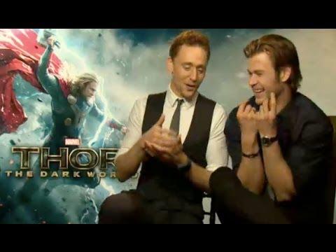Tom Hiddleston & Chris Hemsworth Funny Interview 2013