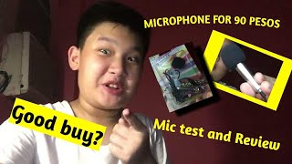 Mini microphone 🎤 from Shopee for only 90 pesos review and mic test