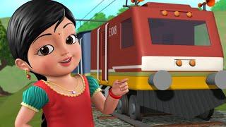 கூக் கூ ரயில் வண்டி, மகிழ்ச்சியான ரயில் பயணம் | Tamil Rhymes for Children | Infobells