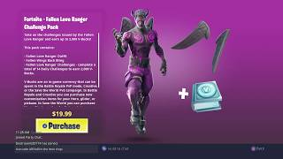 Fortnite: Buying Fallen Love Ranger Pack! (Dark Version)