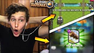 L'AVVERSARIO ABBANDONA E....TROVO IL TRONCO?! clash Royale thumbnail