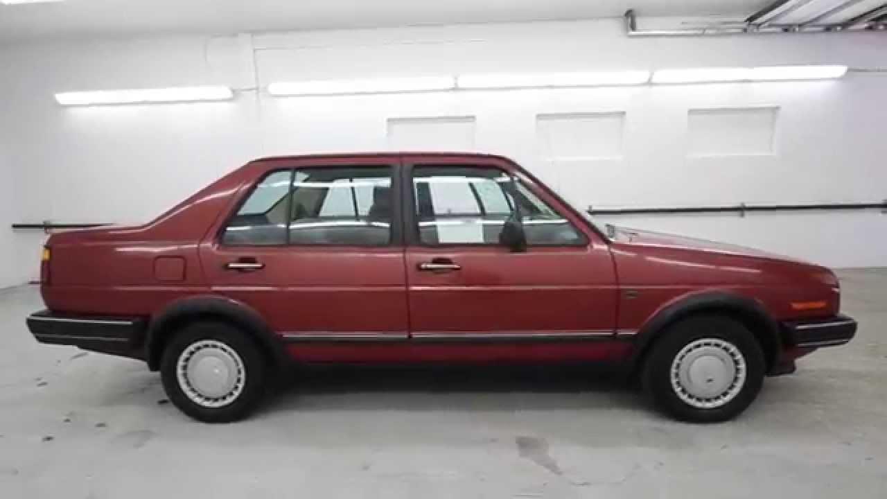 1986 Volkswagen Jetta Burgundy Gw616744 Seattle