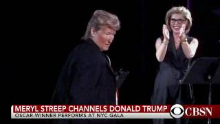 Meryl Streep plays Donald Trump at theater gala