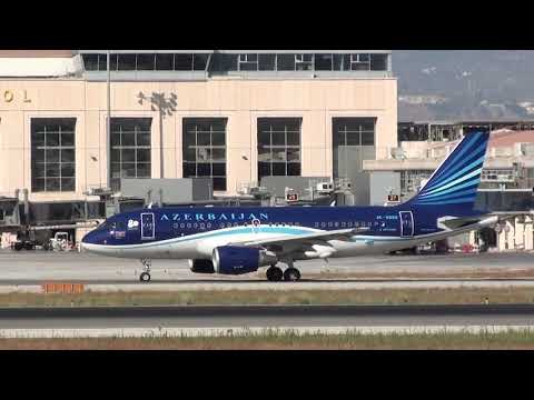 Azerbaijan Government Airbus 319 4K-8888 Taxing Malaga LEMG