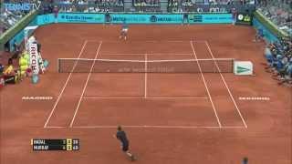 Rafael Nadal Hot Shot Madrid Final 2015 vs. Murray