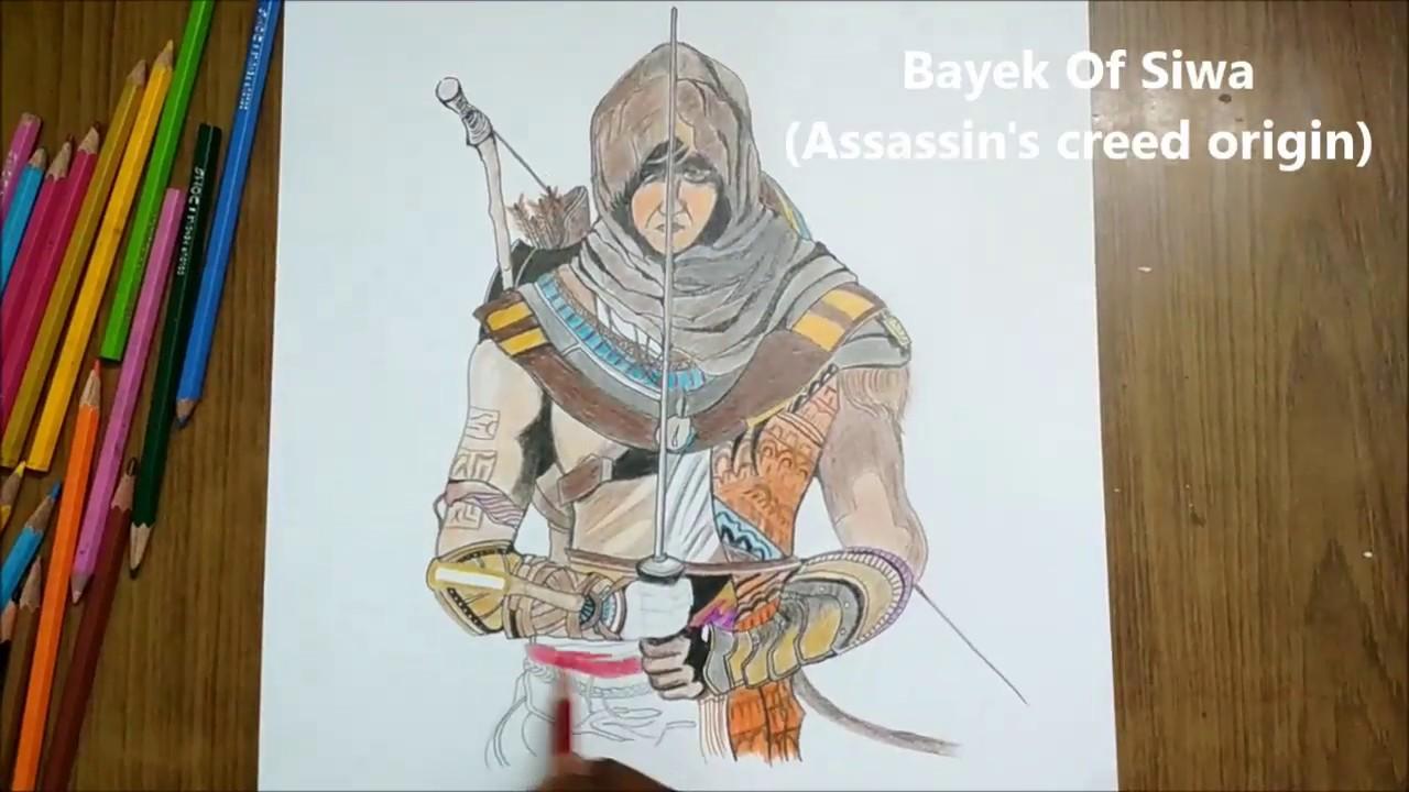 Assasin S Creed Origin Speed Drawing Bayek Of Siwa Youtube